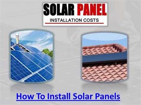 how to fit a solar panel how to install solar panels