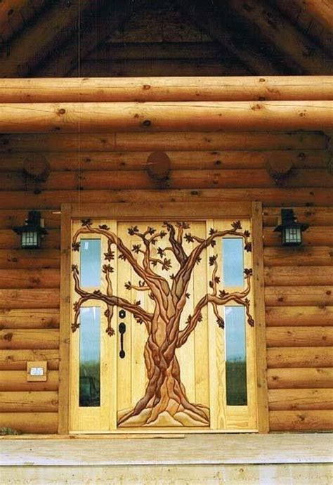cabin door house ideas