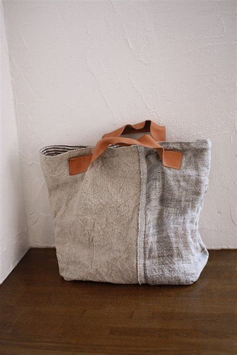 Seven Washed Linen Satchel by Design Texture Bags Bags Bags
