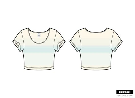top templates scoop neck crop vector illustrations on