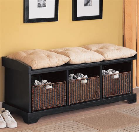 entryway bench with baskets and cushions living room wonderful bench living room seating with