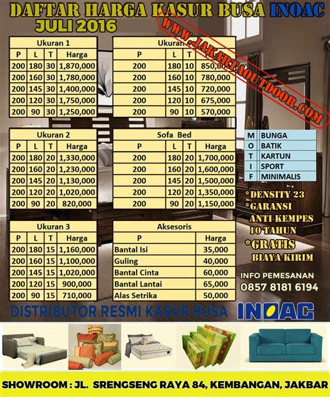 Daftar Kasur Merk Central jual distributor kasur busa merk inoac gratiss antar