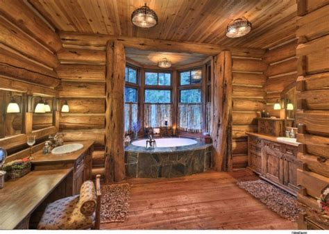 a country copper bathroom on rustic bathroom