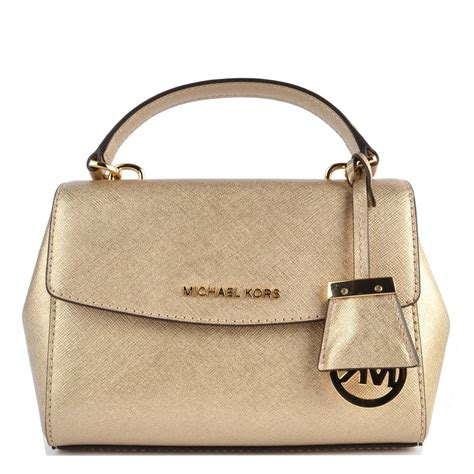 Mk Small Pale Gold michael michael kors pale gold small crossbody