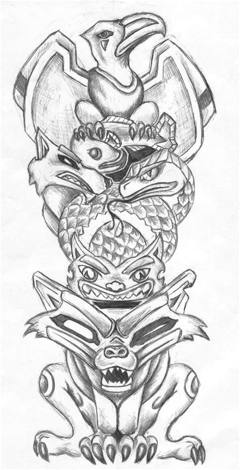 totem pole tattoo designs 62 best totem mask images on ideas