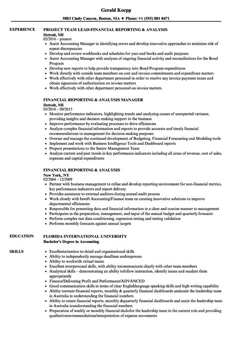 Financial Analysis Manager Sle Resume by Curriculum Vitae Format Free Pdf Professional Resume Exles 2016 Sle Resume For 1