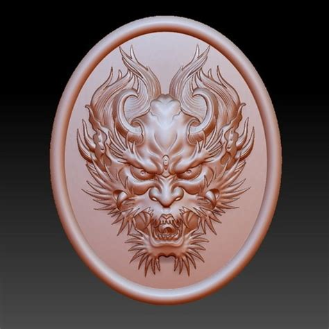 free 3d printer designs dragon head pendant ・ cults