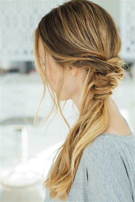 easy hairstyles  hot summer days  everygirl