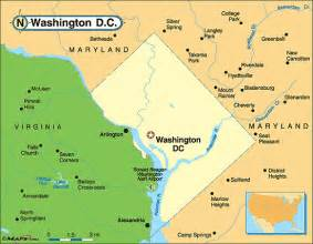usa map dc district of columbia map