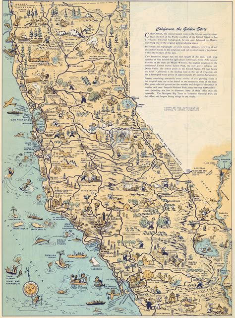 jones louisiana map whimsical map depicts california at a time when