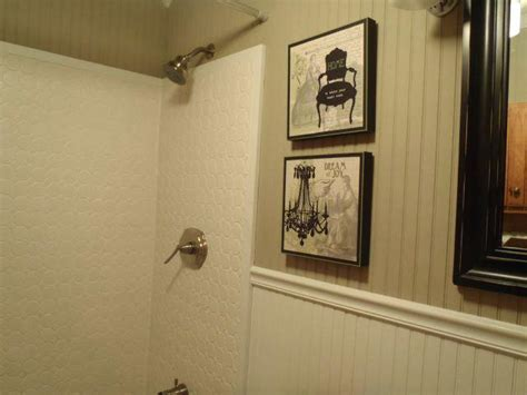 bathroom paneling lowes vinyl wainscoting bathroom with wainscoting vinyl