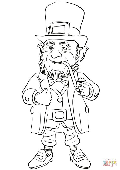 leprechaun coloring page leprechaun coloring page free printable coloring pages