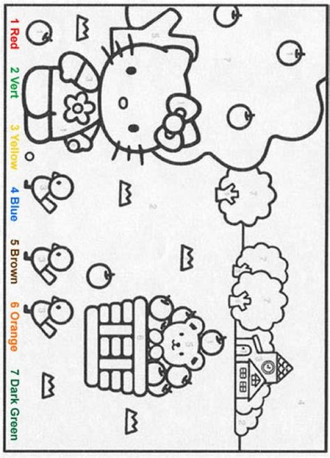 hello kitty coloring pages with numbers characters color by number coloring pages hellokitty
