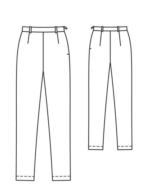 Boogybaby Pant Midi Basic Boy technical drawing of a zipper sketch coloring page