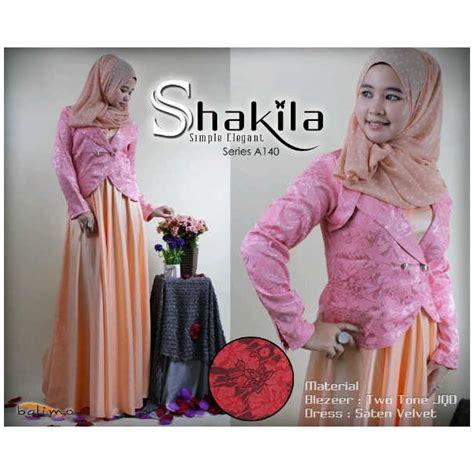 Dress Pesta Quine By Ayyanameena balimo shakila pink baju muslim gamis modern