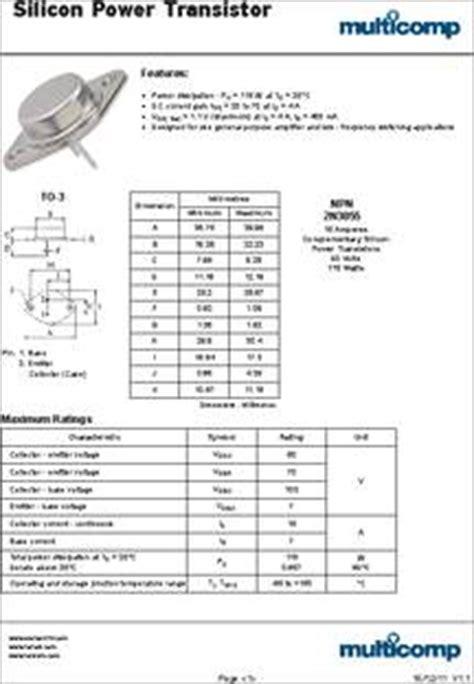 datasheet specifications transistor polarity