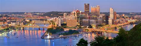 greater than a tourist pittsburgh pennsylvania usa 50 travel tips from a local books pittsburgh pennsylvania skyline at dusk sunset panorama