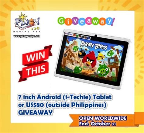 Free Android Tablet Giveaway - 7 inch android tablet i techie giveaway closed filipino recipes portal