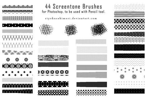 pattern brush medibang 44 pixel screentone brushes by nyanfood on deviantart