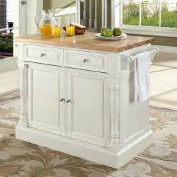 kitchen island butcher block top crosley oxford kitchen island with butcher block top reviews wayfair