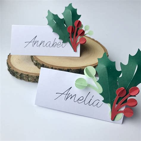 Handmade Name Cards - set of six handmade name place cards by those