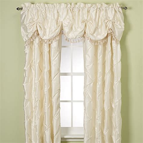 nicole miller chateau curtains nicole miller 174 chateau valance in eggshell bed bath beyond