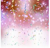 Coloured Background With Confetti And Streamers  Free