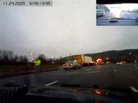 pilotcar.tv accident cleanup truck hauling estes trailer