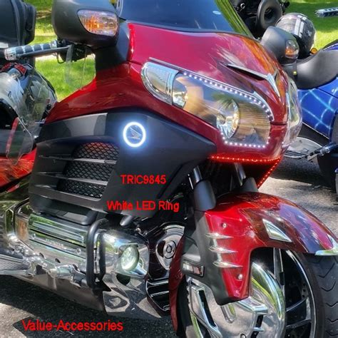 honda goldwing led lights white or led light rings gl1800 gold wing 12 17