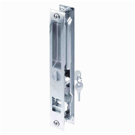 Sliding Glass Door Latches Prime Line Flush Mounted Sliding Patio Door Latch Mechanism C 1076 The Home Depot