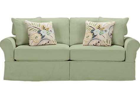 cindy crawford replacement slipcovers cindy crawford home beachside green sofa sofas green