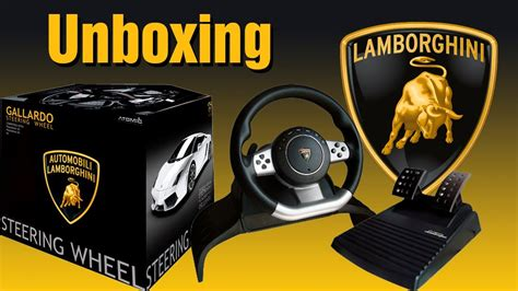 volante lamborghini ps3 lamborghini gallardo steering wheel unboxing animado