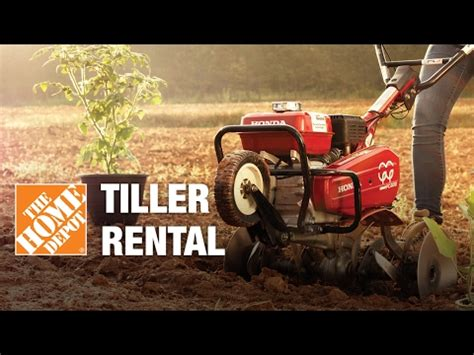 the home depot tool rental center tillers