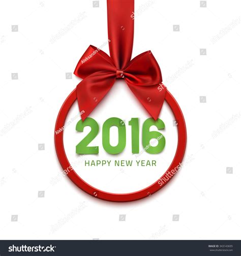 new year 2016 white background happy new year 2016 banner with ribbon and bow