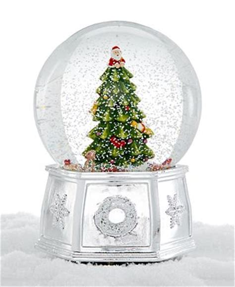 spode christmas tree large snow globe holiday lane