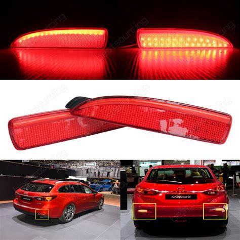 mazda 6 rear light 2 pcs led rear bumper reflector brake stop light mazda6