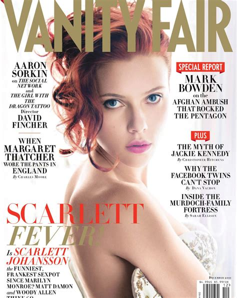Cover Of Vanity Fair by Johansson Vanity Fair Magazine December 2011