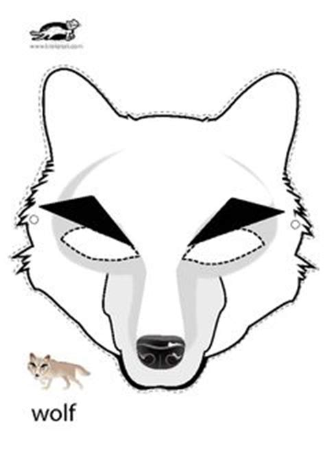 printable wolf mask black and white wolf mask template