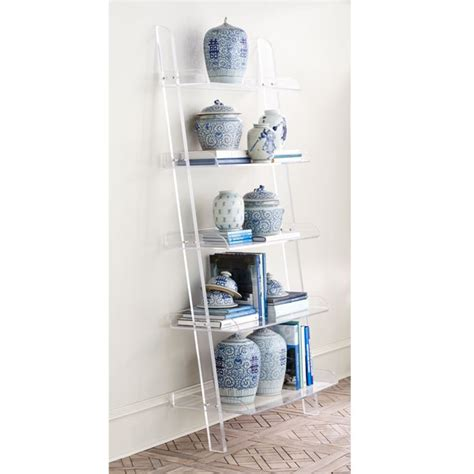 acrylic leaning bookshelf