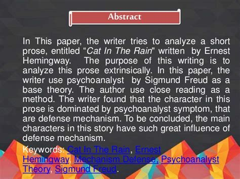 Cat In The By Ernest Hemingway Essay by Cat In The Essay Essay Energy Systems Dissertation