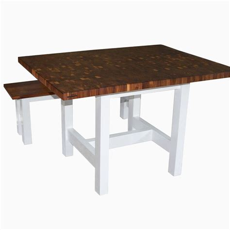 buy a handmade walnut butcher block breakfast table made - Walnut Butcher Block Table