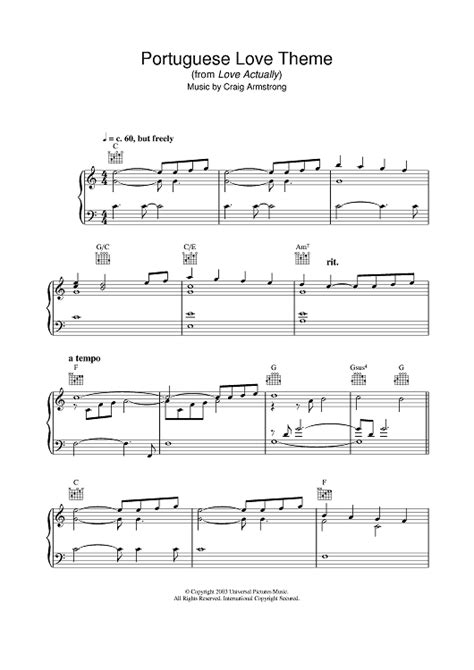 love themes classical music portuguese love theme sheet music music for piano and