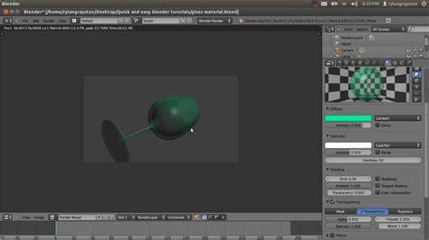 tutorial blender glass glass material tutorial in blender 2 6 youtube