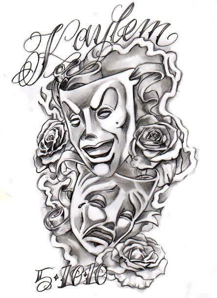 chicano masks tattoo design