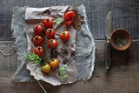 rustic cooking roasted cherry tomatoes food art pinterest food