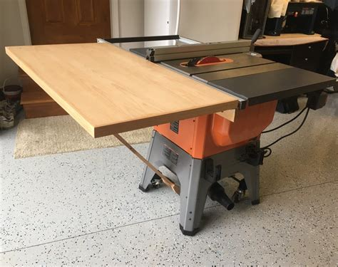 ridgid r4512 tablesaw outfeed table by mikemccind