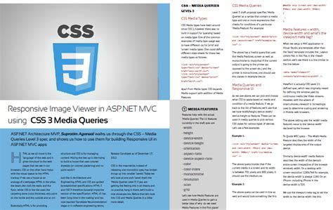 responsive layouts using css media queries dnc magazine for net developers may 2013 issue