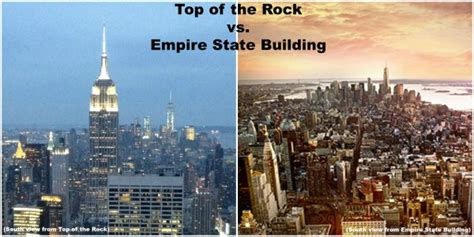 empire state building deck vs top deck top of the rock vs empire state building compare major