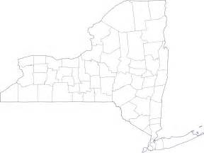 New York County Map by Geography Blog New York Outline Maps