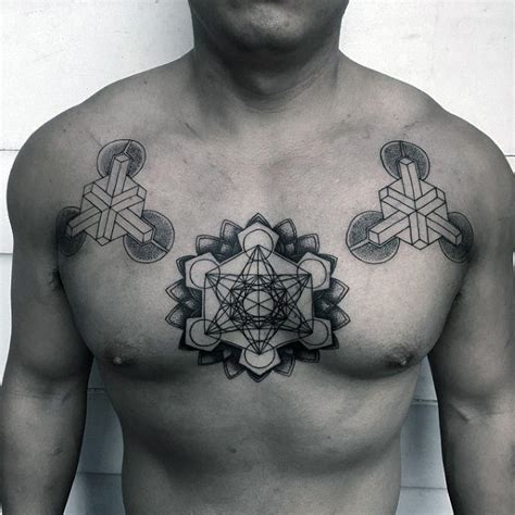 geometric chest tattoos top 100 best sacred geometry designs for